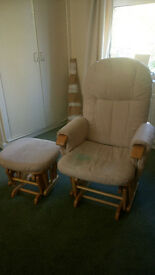 Nursery Rocking Chair and Stool