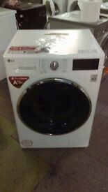 LG 9KG white WASHING MACHINE new ex display which may have minor marks or blemishes.