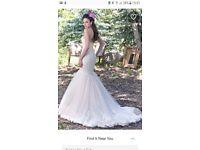 Brand New Maggie Sottero wedding dress. Stunning Ivory over blush Size 12