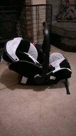 Recaro Young Profi Plus Baby Infant Car Seat Carrier silver 0 - 15 Months/13kgs