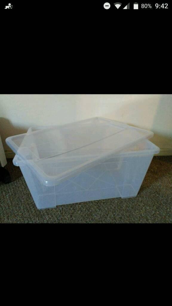 Ikea Samla storage box with lid