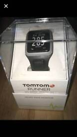 Tomtom runner watch with heart rate monitor New in box