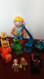 Bob the Builder vehicles and talking figure bundle