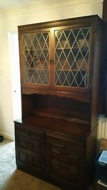 DARK WOOD WELSH DRESSER FOR SALE.