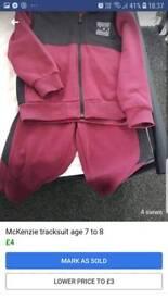 McKenzie tracksuit age 7 to 8