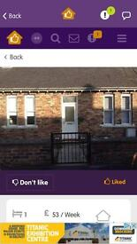 1bed bungalow for swap