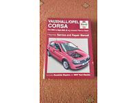 Haynes Manual for Vauxhall/Opel Corsa