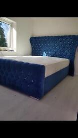 🔷Royal blue Kendal bed