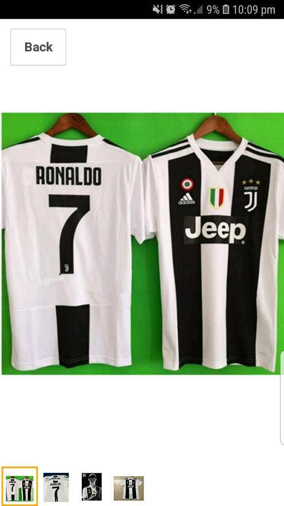 5bc1d7d31e1 Juventus  Ronaldo 7  18 19 ShirtS NEW