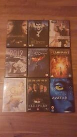 9 DVDs for sale