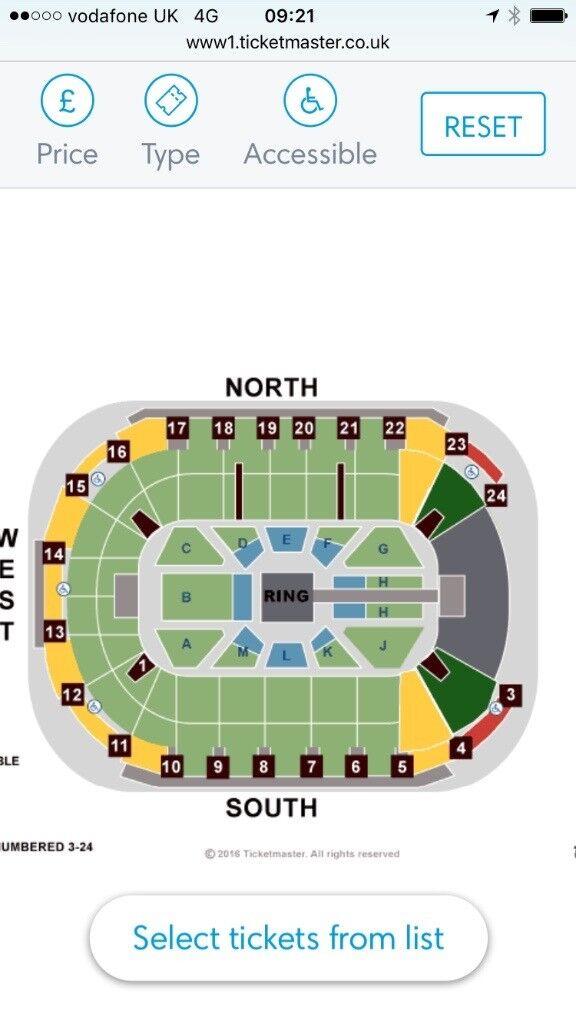 WWE tickets x4 Belfast SSE Arena
