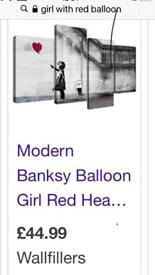 Wall Art Girl with Red Balloon