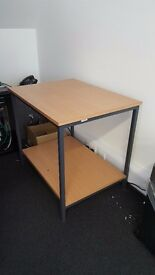 FREE for pickup office furniture - x3 office chairs, x1 printer table