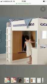 ASPACE WHITE LOFT BED WITH WARDROBE
