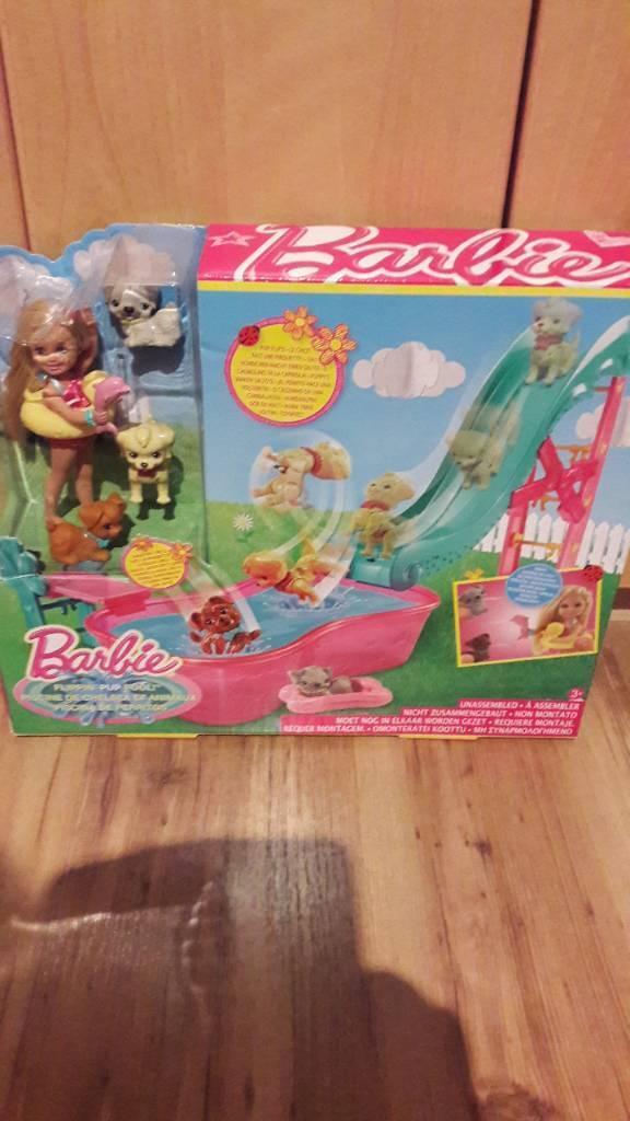 Barbie flippin pup pool