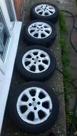 Vauxhall Astra 4 stud Alloy wheels corsa combo