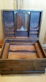 Victorian Rosewood Military Campaign Travelling Trunk/Chest
