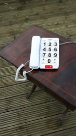 Logik - phone for the elderly - has flashing light for visual ring only £10 ono