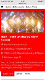 DLDK don't let daddy know Bolton Arena 7th October 2017