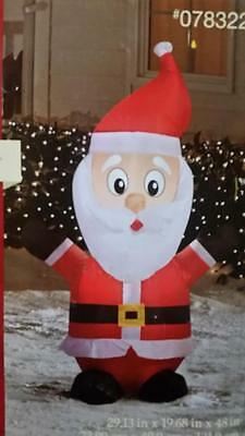 4 Ft Santa Christmas Lighted Airblown Inflatable Yard Decor