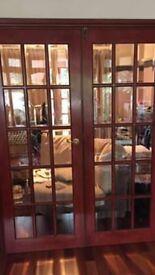 2 solid wood internal doors very heavy