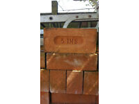New 3 Inch Face Hand Made Charnwood Bricks - Fareham Reds
