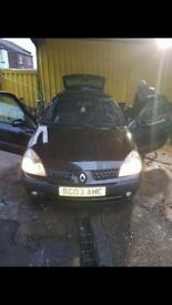 2003 Black Clio 1.2 MOT October 18 *Read description*