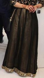 Black and gold chiffon tissue skirt