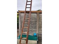 Double Extenable Wooden Ladders