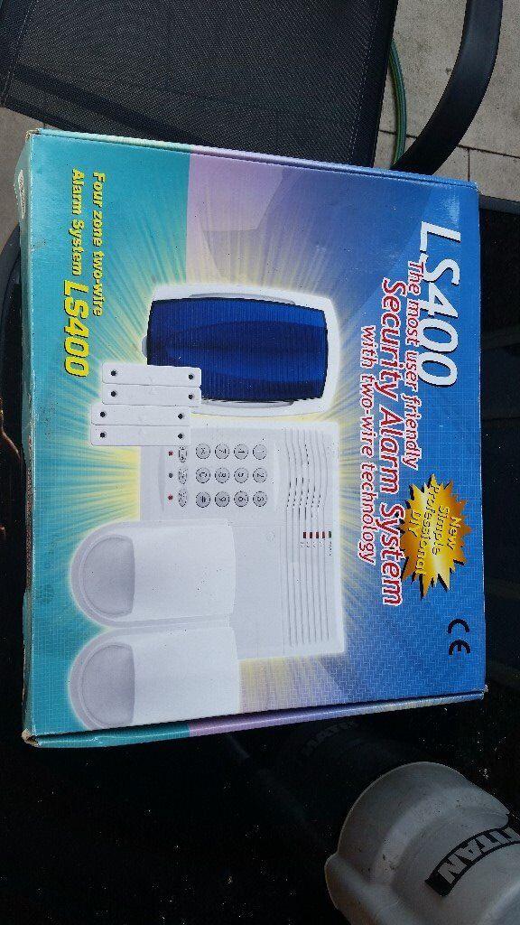 Lynteck LS400 Hardwired 2 Wire 4 Zone Intruder/Burglar Alarm Kit ...