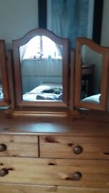 Chest of drawers and mirror very good condition
