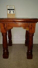 Chunky Chestnut Lamp Table