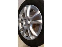 1x Vauxhall Corsa D 5 Twin Spoke Silver Alloy Wheel + Tyre 195/55R16