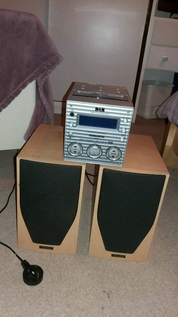 Mini Hifi with Mission Speakers