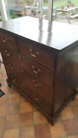 Large Georgian drawers circa 1810
