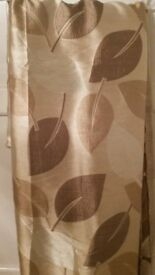 Gold/Bronze Leaf Print Fabric, 145cm wide 310cm long, Washable