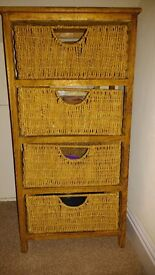 Drawers with baskets