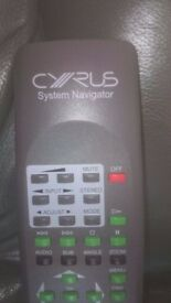 Cyrus System Navigator remote control