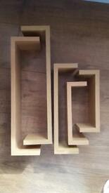 Set of 5 floating shelves