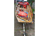 Mirror Sailing Dinghy, Road Trailer and Seagull engine.