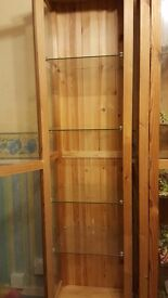 Glass display cabinets x2 from Ikea