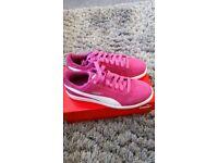 Women's pink puma trainers