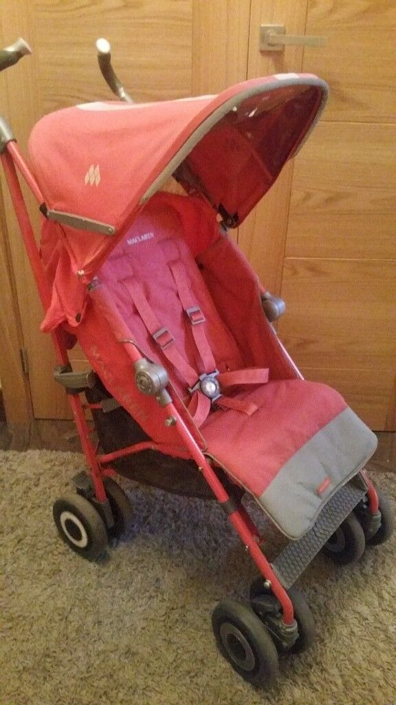 Maclaren Techno XT Pushchair In Coral Pink