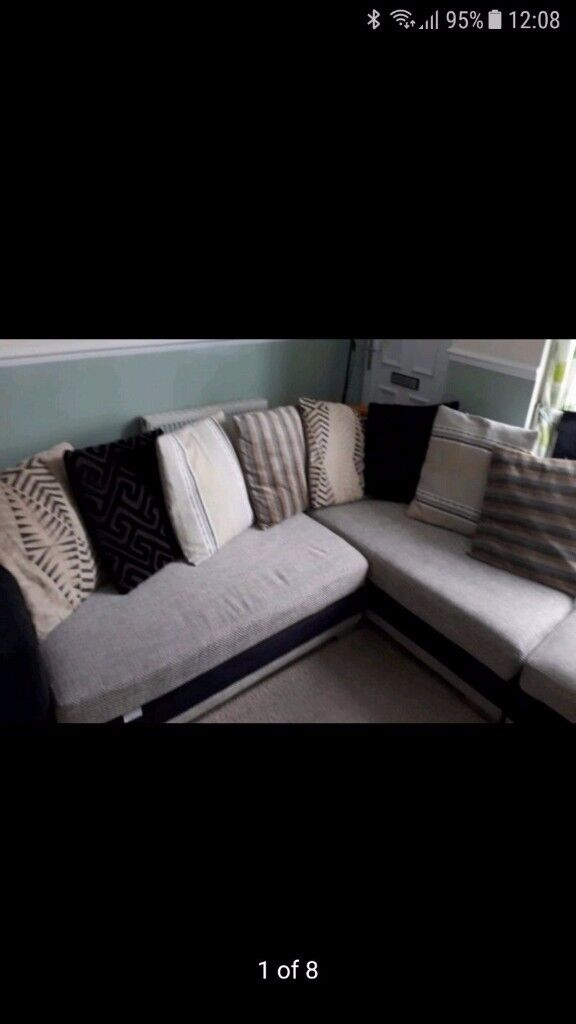 Corner sofa and large foot stool