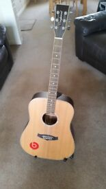 Tanglewood TW28 CSN LH guitar and accessories