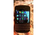 blackberry Q10 with 02