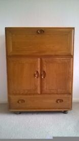 Handsome Ercol cabinet, elm, 70s