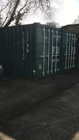 Secure 20ft container storage Three Legged Cross