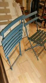 2 metal chairs Not from Ikea Exellent quality