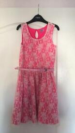 F&F hot pink party dress 8-9 years